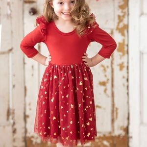 Red Tulle Dress - 2T
